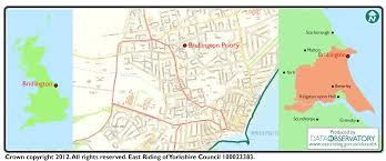 Yorkshire England Map by Maps Bridlington Priory