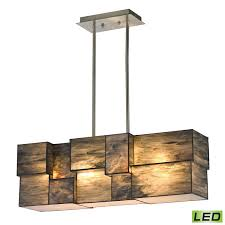 Brushed Nickel Chandeliers Elk Lighting 72073 Cubist 4 Light Chandelier Brushed Nickel