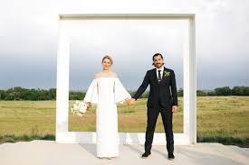 minimalist sleek wedding in the texas hill country green