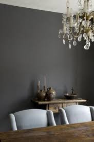 charcoal paint color sets a great stage for whites and pine
