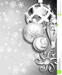 christmas ornament border w snow royalty free stock photography