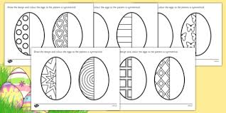 easter egg symmetry worksheets symmetry sheets symmetry