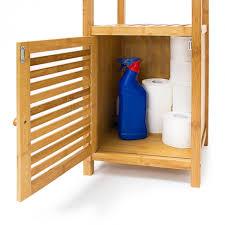 meuble cuisine 110 cm étagère pour salle de bain cuisine armoire bambou 4 étages