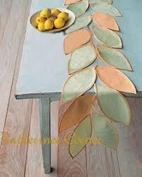 Leaf Table Runner Make A Lovely Table Runner For Your Summer Table Katherines Corner