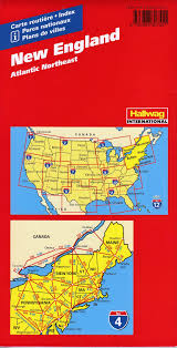 Boston Usa Map by New England Hallwag Usa Map Buy Map Of New England Mapworld
