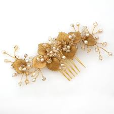 hair broach jayne bridal hair combs gold foliage bridal hair comb