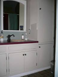 bathrooms design bathroom vanity and linen tower for narrow