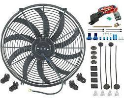 electric radiator fans 16 inch electric fan 12v push in radiator fin probe