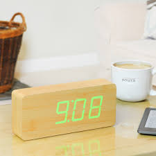 Minimalist Alarm Clock by Click Clock Slab By Gingko In The Design Shop