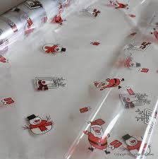 cellophane gift wrap christmas santa snowman cellophane wrap 10m x 80cm