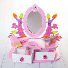 Childrens Play Vanity Personalised Childrens Vanity Mirror Set By British And Bespoke