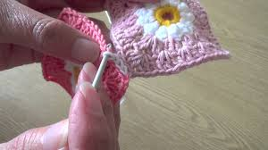 how to join crochet squares completely flat zipper method joining crochet squares with a flat chain stitch seam youtube