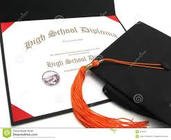 high school tassel high school diploma with cap and tassel royalty free stock images