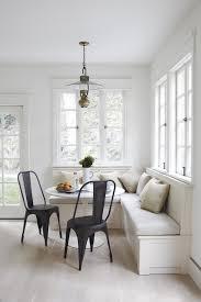 white kitchen pendant lighting gray banquette white beige cushion minimalist kitchen wooden ding