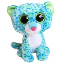 adorable ty beanie boos blue leopard plush toy children