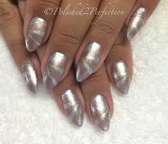 art deco nails cnd shellac lecente stardust empower nail art
