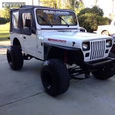 jeep wrangler custom black wheel offset 1990 jeep wrangler hella stance 5 suspension lift 45