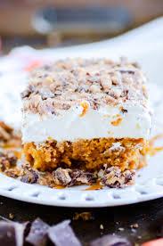 pumpkin poke cake something swanky