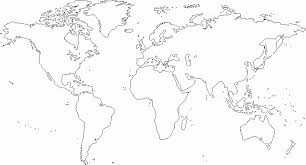 Blank World Map With Borders by Coloring Page Of World Map Coloring Home