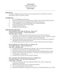 Front Desk Job Resume by Resume
