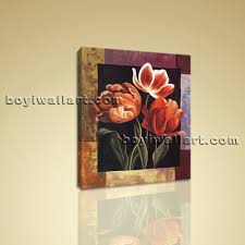 Abstract Home Decor Abstract Floral Canvas Print Flower Wall Art For Bedroom Home Decor
