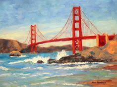 golden gate bridge at night painting jackie schon the paint bar