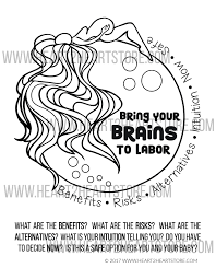 bring your brains to labor coloring page digital download u2013 the