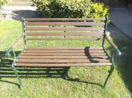 Heavy Duty Garden Benches Heavy Duty Garden Bench With Cast Iron Ends In Bangor County