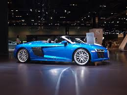 2017 audi r8 v10 spyder is an open air track weapon autoguide