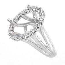 halo engagement ring settings 14k semi mount split shank oval halo engagement ring