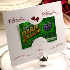 lottery ticket wedding favors lottery tickets as wedding gift lucky in not traditional