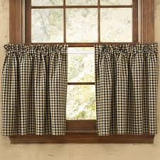 primitive country curtain tiers