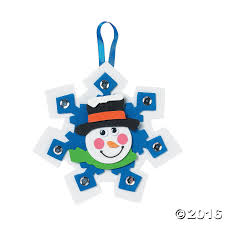 amazon com 12 snowman snowflake ornament craft kits arts crafts