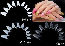 false point stiletto french acrylic uv gel nail tips joy gifts store