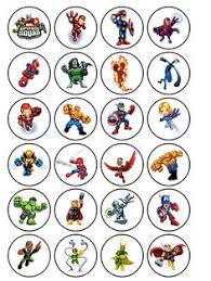 marvel cake toppers 24 icing cake toppers decorations marvel heros