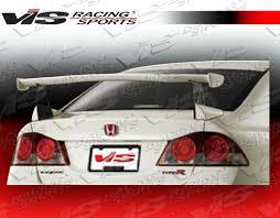 honda civic spoiler brake light 2006 2011 honda civic 4dr techno r 2 rear spoiler vis racing sports inc