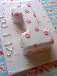 girls pink flower first birthday number 1 cake make bake u0026 sew