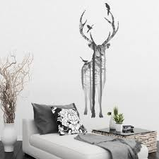 v c designs ltd tm large stylish stag in the woods vinyl wall v c designs ltd tm large stylish stag in the woods vinyl wall sticker decal wall art decoration mural amazon co uk diy tools