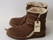 ugg s decatur boots brown ugg australia leather combat boots for ebay