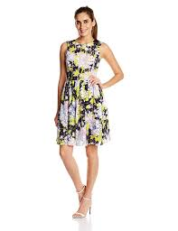 french connection women u0027s botanical lace sleeveless fit and flare