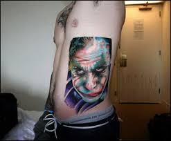 black and white heath ledger joker tattoo 5381111 top tattoos ideas