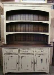 How To Distress Kitchen Cabinets by Best 25 Distressed Hutch Ideas On Pinterest Antique Hutch