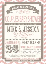 couples baby shower couples baby shower invitation pink and grey couples baby