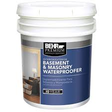 behr premium 5 gal basement and masonry waterproofing paint 87505