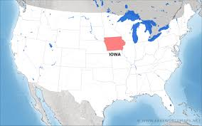 map us iowa where is iowa located on the map