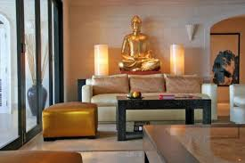 Buddha Room Decor Zen Living Room With Gold Buddha Statue Decor Buddha Home