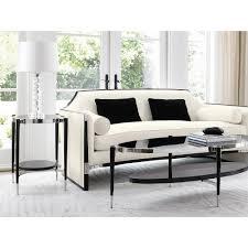 modern black table octavio modern black tuxedo trim ivory sofa kathy kuo home