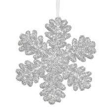 silver snowflake ornaments wayfair
