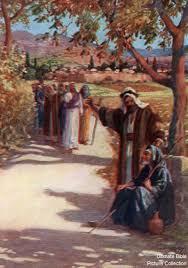 Was Bartimaeus Born Blind John 9 Bible Pictures Man Speaking To Blind Bartimaeus