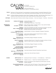 Sample Chef Resume by Sample Arts Resume Corpedo Com